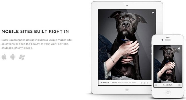 Squarespace mobile editor