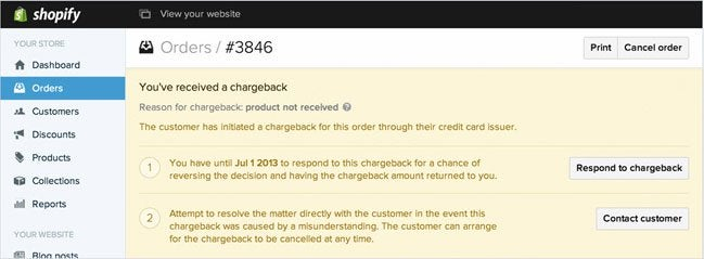 Shopify Payments - Chargeback recovery