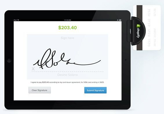 Shopify Point of Sale iPad