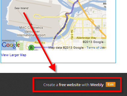 weebly pro footer