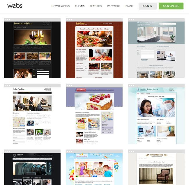 webs Review - templates