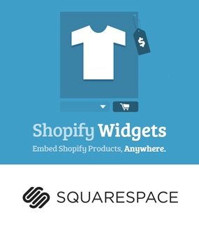 Squarespace Shopify widget
