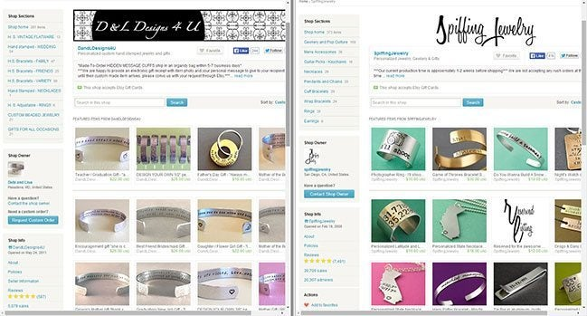 Etsy Alternatives - Store Layout