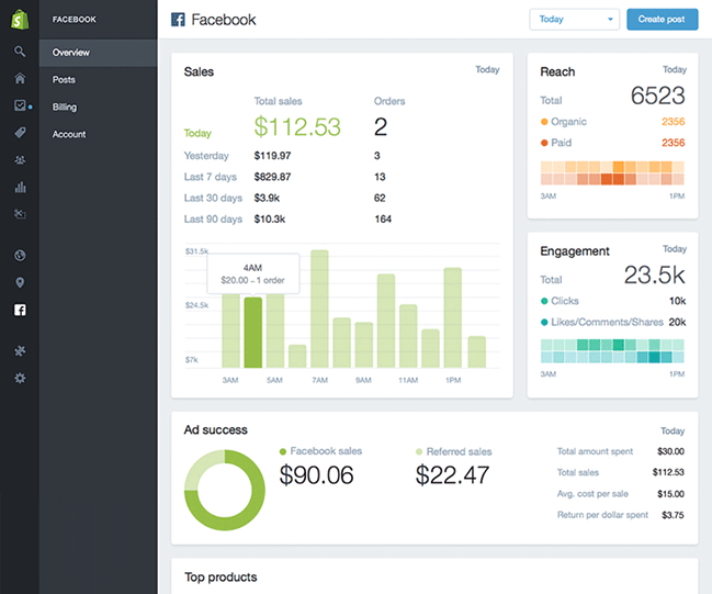 Facebook buy button - Shopify Dashboard