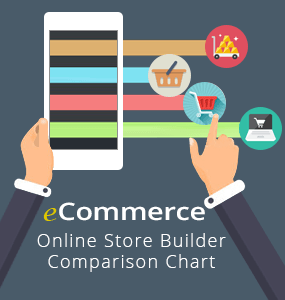 online store builders comparison chart