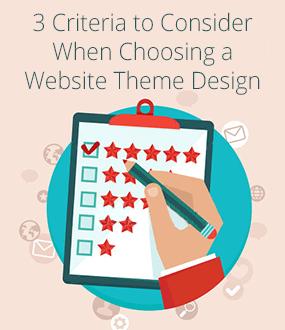choosing website template designs