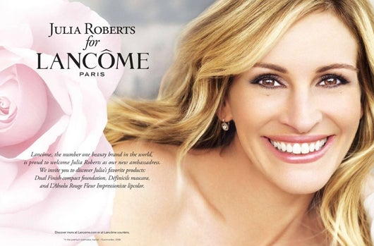 effective use of images in ads loreal