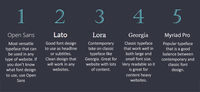 font style design selection