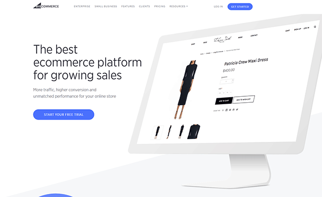 Shopify alternatives competitors - bigcommerce