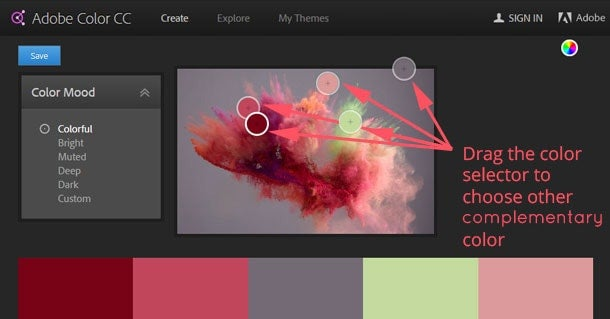 how to use adobe color cc