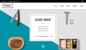 good homepage design shopify example