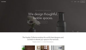 good homepage design squarespace example