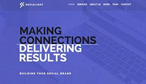 good homepage design wix example