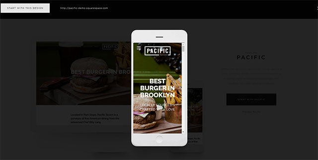 Squarespace Templates - Mobile Preview
