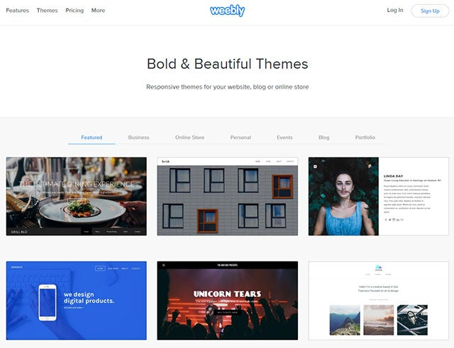 web Design Software - Weebly templates