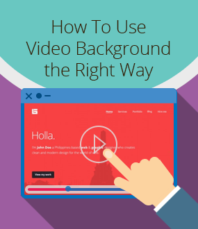 How to Use Video Background On Your Website - The Right Way!
