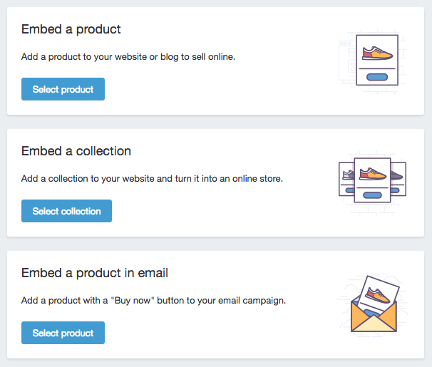 Squarespace shopify buy button - embed button