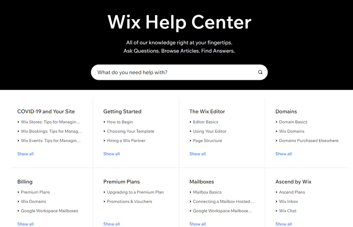 wix ecommerce review help center