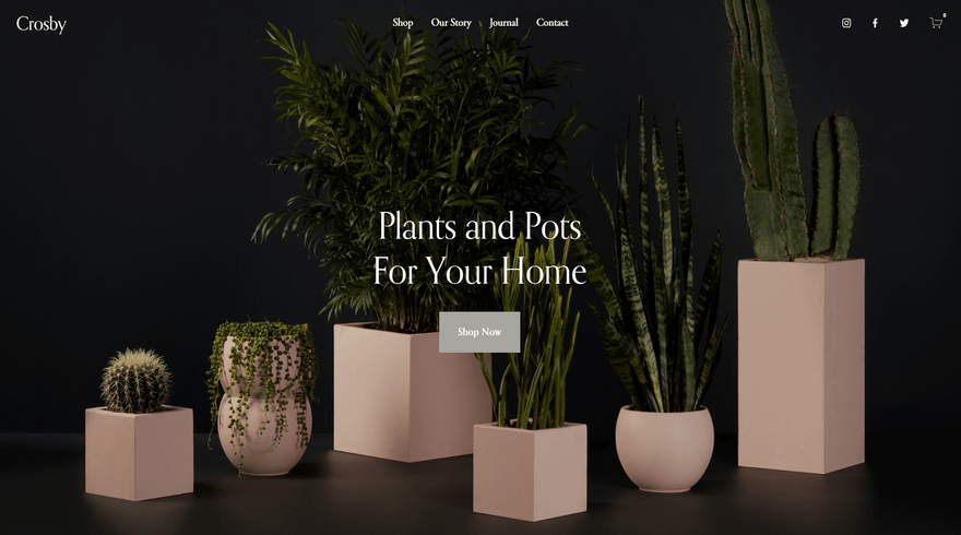 squarespace ecommerce template crosby