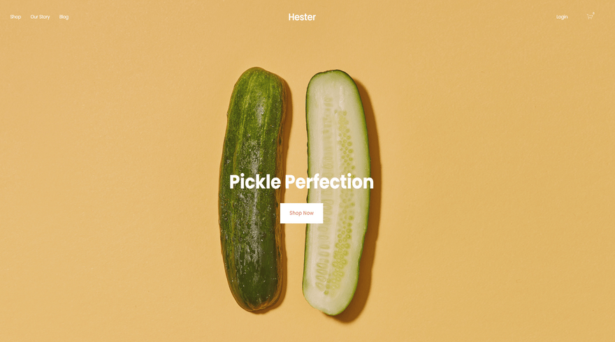 squarespace ecommerce template hester
