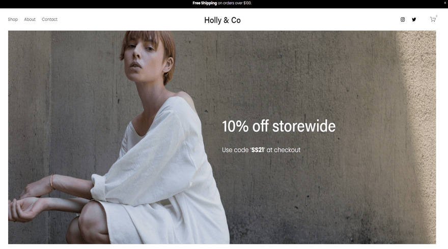squarespace ecommerce template holly
