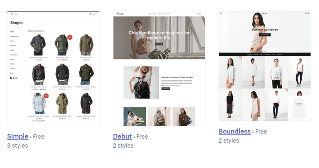 free themes from shopify