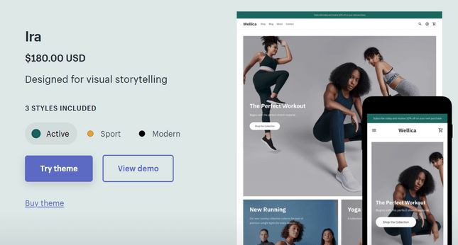 paid theme from shopify