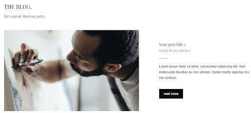 im creator add a blog