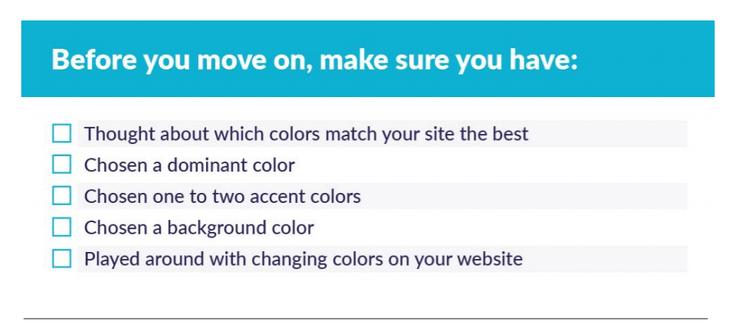 checklist items
