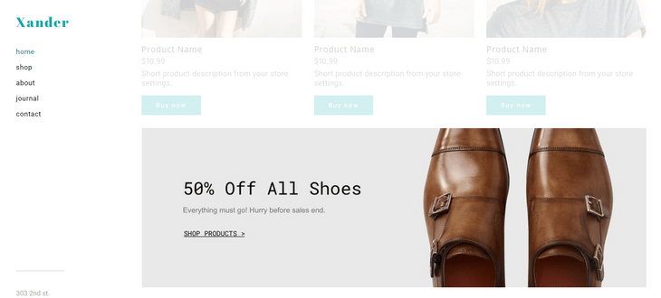 weebly ecommerce review highlighted product