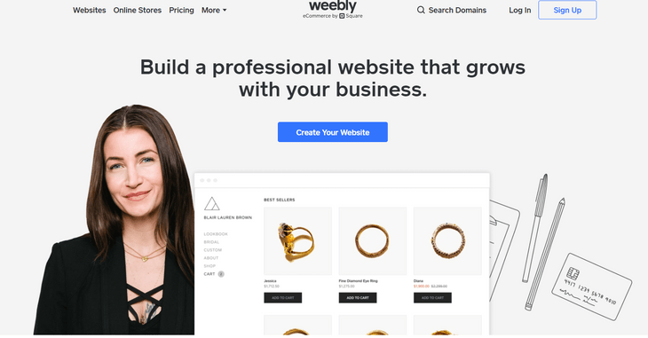 weebly ecommerce review home
