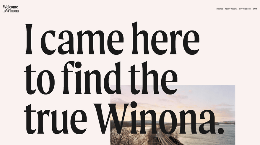 welcome to winona squarespace website
