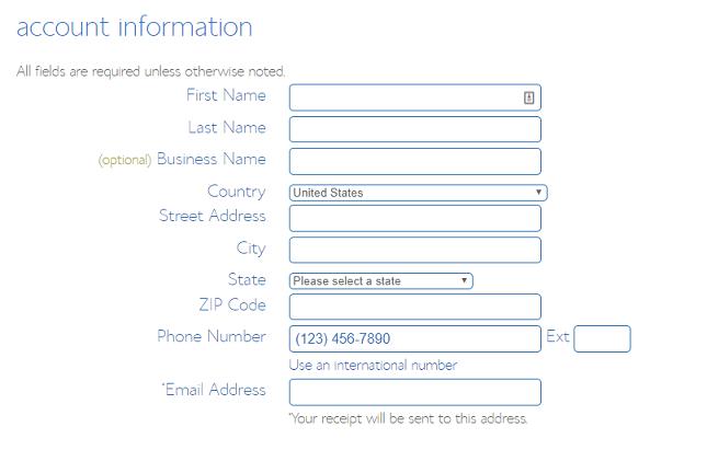 BlueHost WordPress Installation Create Account