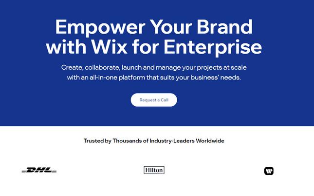 wix enterprise plan