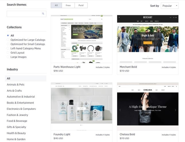 bigcommerce online store templates