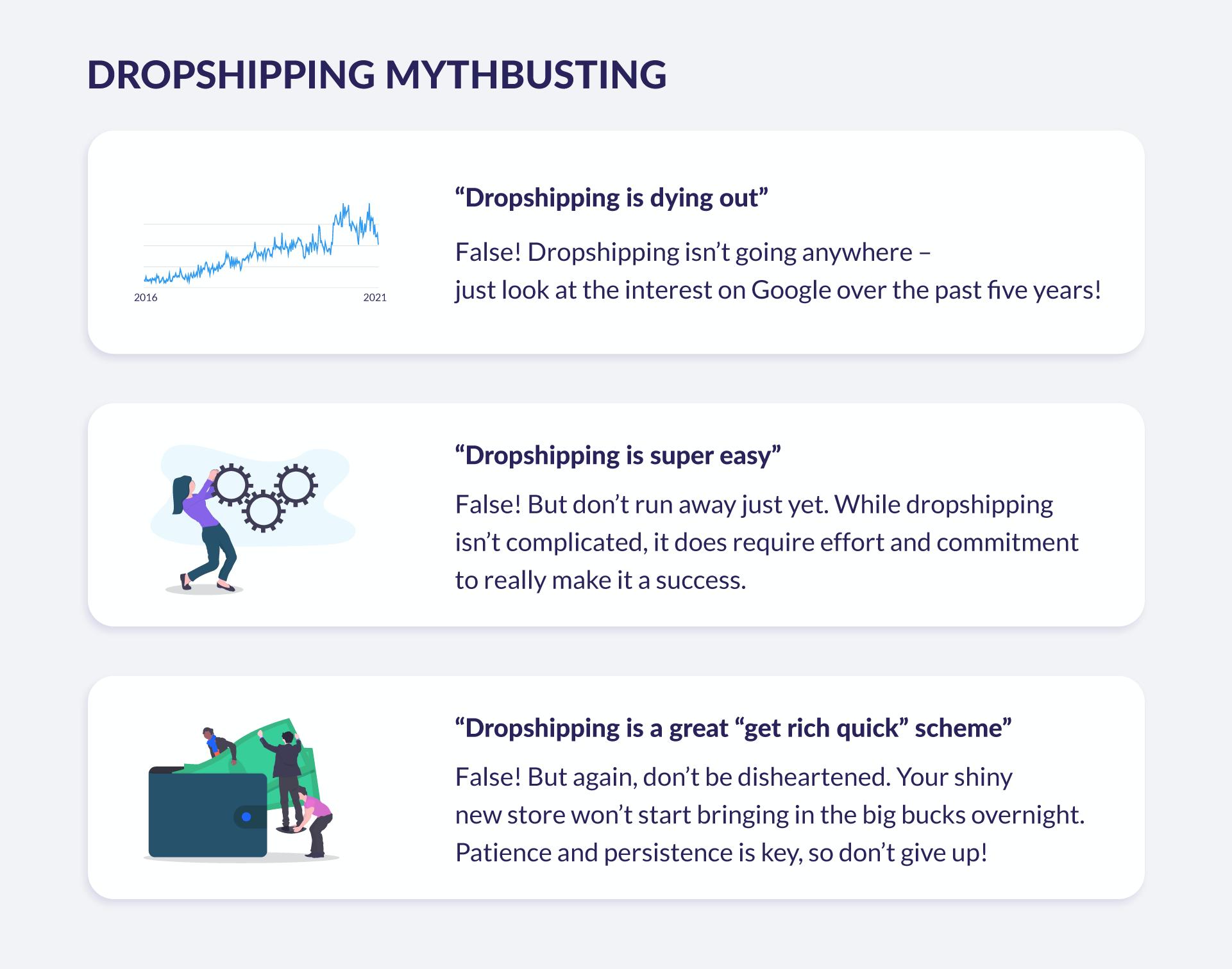 dropshipping myths debunked