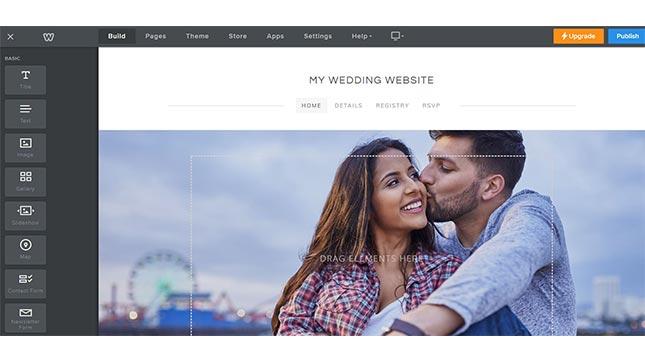 weebly best wedding website builder