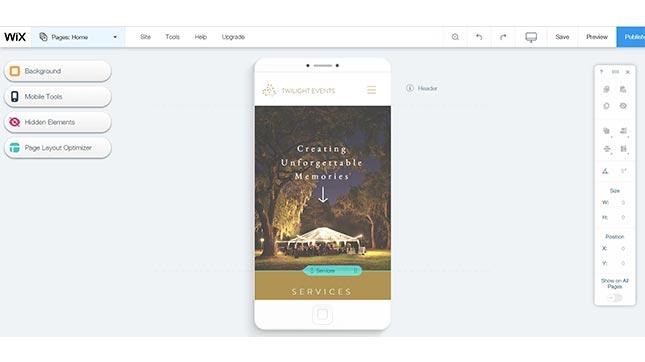 wix best wedding website builder