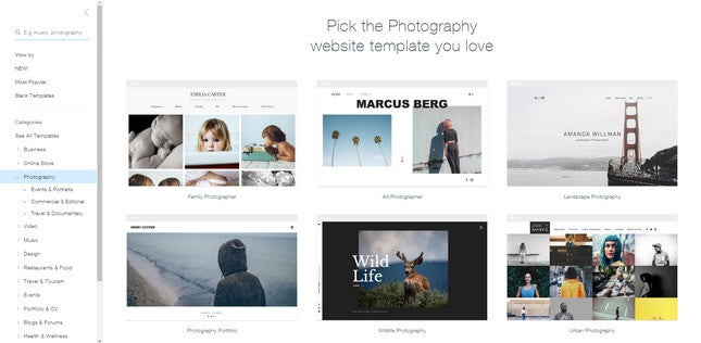 wix templates small business website builder