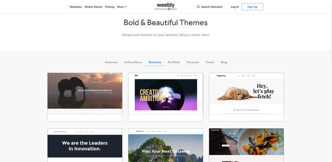 weebly small business website builder