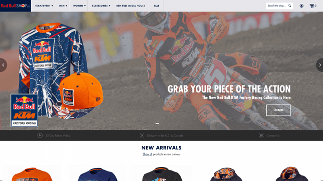 Red Bull Shopify Plus