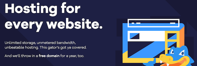 HostGator homepage screenshot