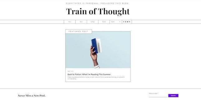 Train of thought nonprofit template by Wix