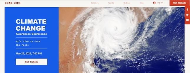 Climate Change nonprofit template by Wix