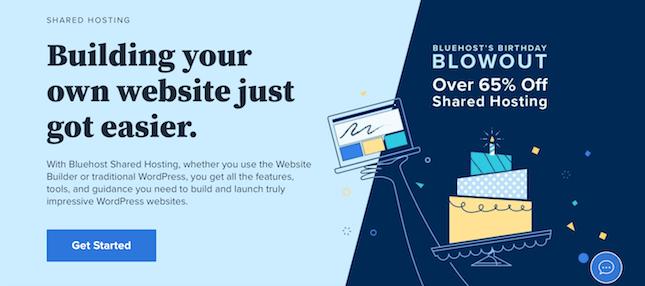 Bluehost hosting screenshot example