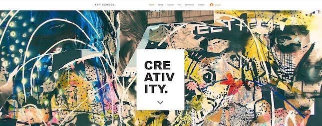 Art School by Wix artist website template