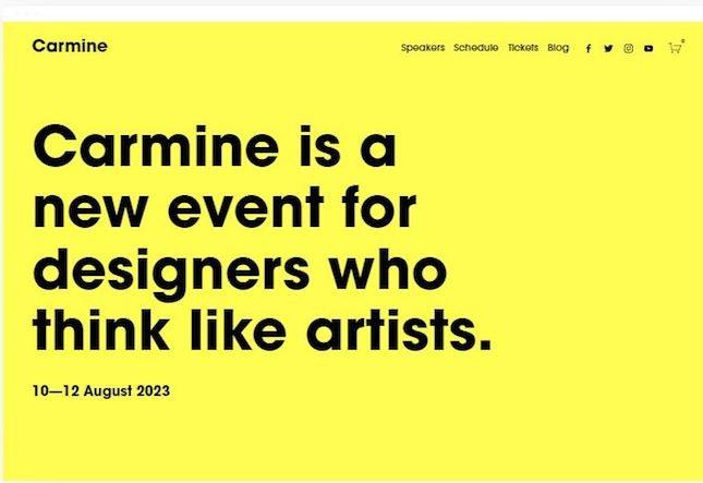 Carmine by Squarespace artist website template