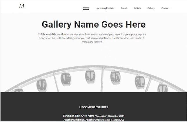 Gallery by Duda artist website template