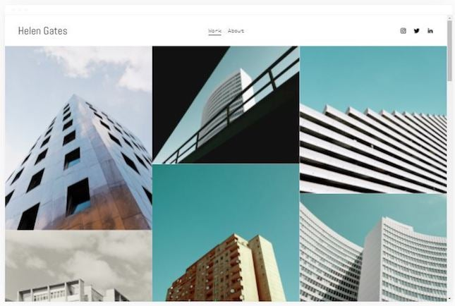 Gates by Squarespace artist website template
