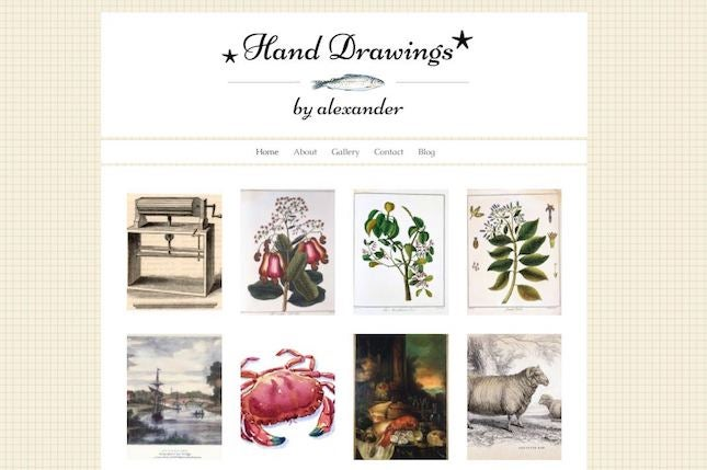 Hand Drawings by Wix artist website template